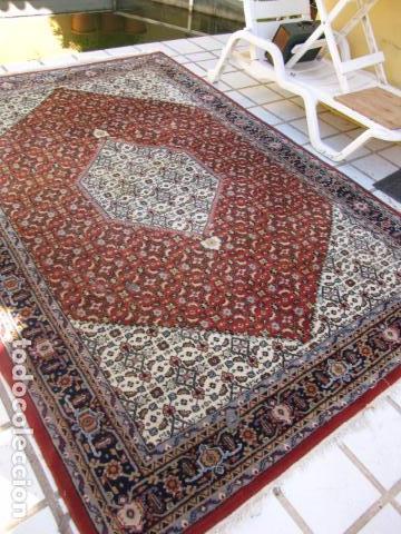 Antigüedades: Antigua y gran alfombra persa. Pura lana anudada a mano - Foto 3 - 103583707