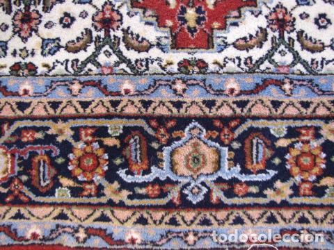Antigüedades: Antigua y gran alfombra persa. Pura lana anudada a mano - Foto 7 - 103583707