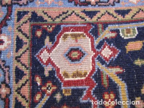 Antigüedades: Antigua y gran alfombra persa. Pura lana anudada a mano - Foto 12 - 103583707