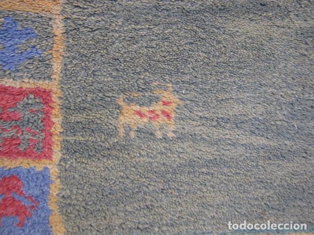 Antigüedades: Alfombra magrebí Pura lana, anudada a mano. - Foto 3 - 103584107