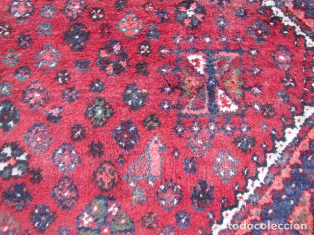 Antigüedades: Antigua alfombra persa. Shiraz. Pura lana, anudada a mano - Foto 3 - 103585275