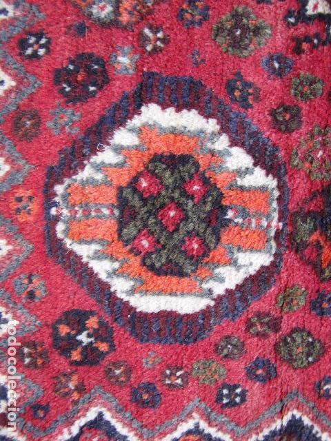 Antigüedades: Antigua alfombra persa. Shiraz. Pura lana, anudada a mano - Foto 4 - 103585275