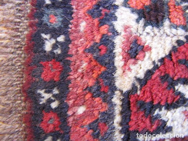 Antigüedades: Antigua alfombra persa. Shiraz. Pura lana, anudada a mano - Foto 5 - 103585275