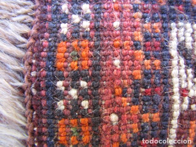 Antigüedades: Antigua alfombra persa. Shiraz. Pura lana, anudada a mano - Foto 8 - 103585275