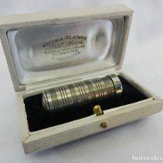 Precioso labial pintalabios plata en su estuche original ART DECO Platero Rambla Cataluña Barcelona