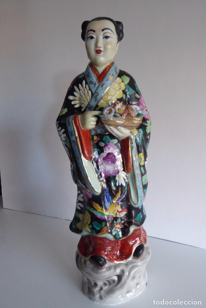 Antigüedades: VALIOSA FIGURA CHINA DECORADA A MANO - Foto 1 - 103604971