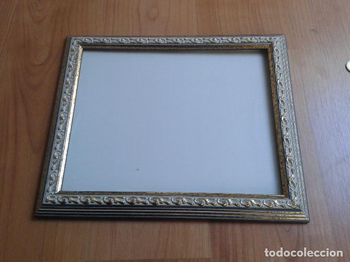 moldura o marco -- madera -- gris y dorado -- c - Comprar Marcos ...