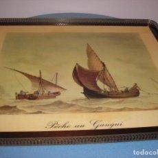 Antigüedades: PRECIOSA BANDEJA- IDEAL PARA MESITA AUXILIAR. Lote 103608115