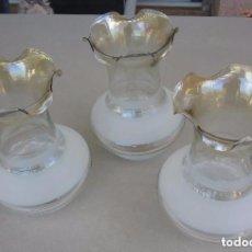 Antigüedades: 3 TULIPAS PARA LAMPARA GAS. Lote 103613711