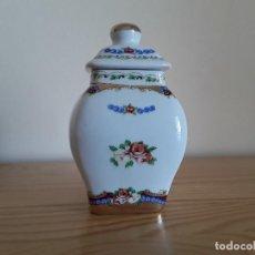 Antigüedades: TIBOR DE PORCELANA TIPO LIMOGES. Lote 103616407