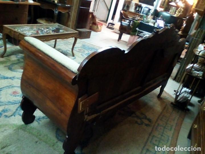 Antigüedades: SOFÁ SERLONG O ISABELINO - Foto 5 - 103617755