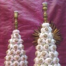 Antigüedades: VIP! LAMPARAS ANTIGUAS XXXL CERAMICA MANISES MITICAS CESTOS DE AJOS. Lote 103633275