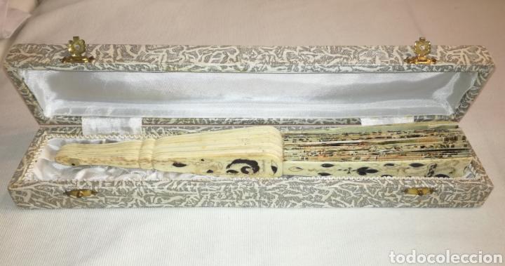 Antigüedades: Antiguo Abanico Varillaje de Marfil. - Foto 6 - 103634080