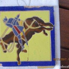 Antigüedades: AZULEJO CUERDA SECA. Lote 103635515