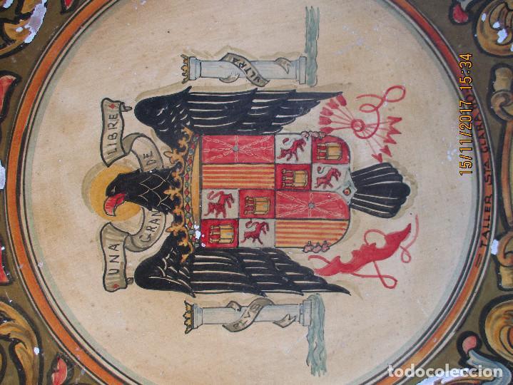 Antigüedades: Plato con escudo Franquista año 1938 - Foto 2 - 103640259