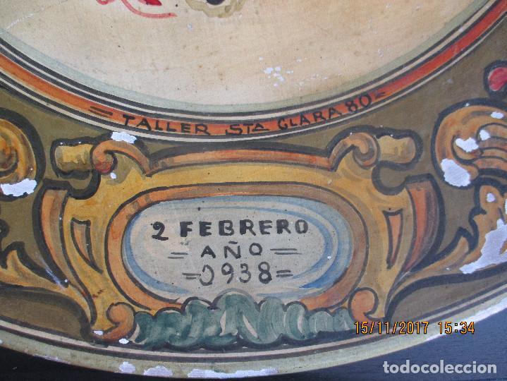 Antigüedades: Plato con escudo Franquista año 1938 - Foto 3 - 103640259