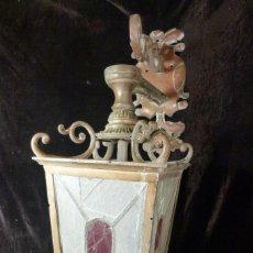 Antigüedades: FAROLA DE BRONCE. Lote 103652451