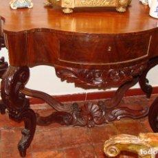 Antigüedades: CONSOLA CHAPEADA EN CAOBA - SIGLO XIX. Lote 103670639