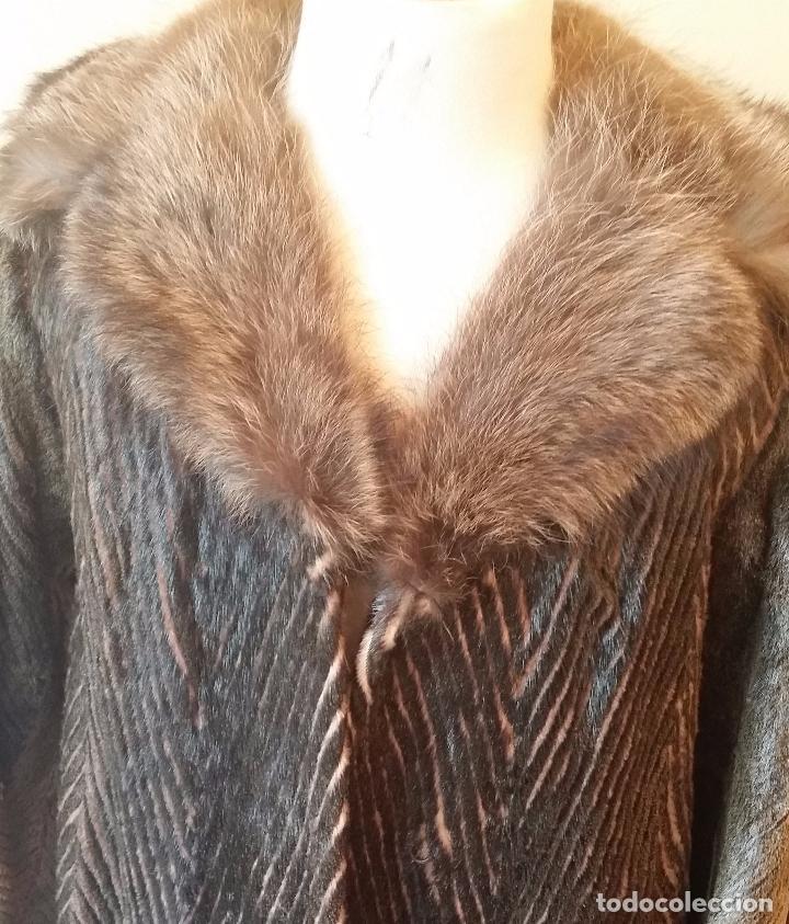 Antigüedades: Abrigo de piel natural - Foto 4 - 103674079