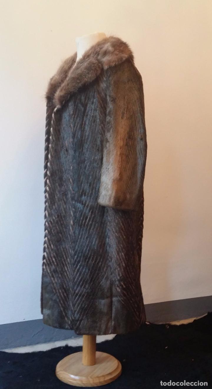 Antigüedades: Abrigo de piel natural - Foto 10 - 103674079