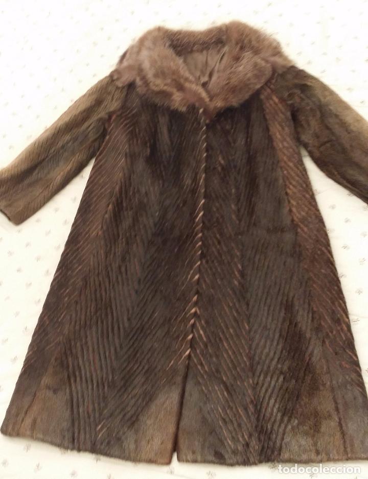 Antigüedades: Abrigo de piel natural - Foto 14 - 103674079