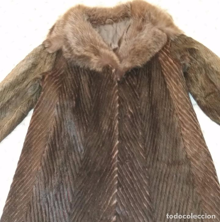 Antigüedades: Abrigo de piel natural - Foto 15 - 103674079