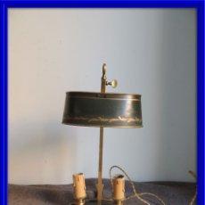Antigüedades: LAMPARA PALMATORIA CON TULIPA METALICA ANTIGUA S. XIX. Lote 103705219