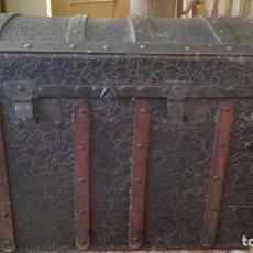 Antigüedades: BAÚL METÁLICO REPUJADO.. Lote 103716691