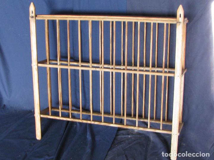 Antiguo mueble platero o escurridero para pared comprar for Mueble platero