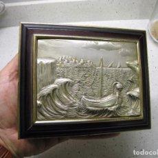 Antigüedades: PRECIOSA CAJA EN PLATA DE LEY Y MADERA 14,5 X 11,5 X 4 CMTS. Lote 103754847