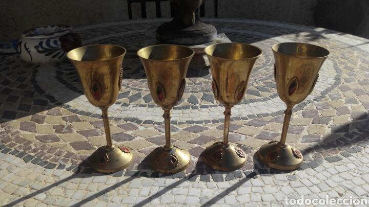 4 COPAS DE METAL (Antigüedades - Hogar y Decoración - Copas Antiguas)