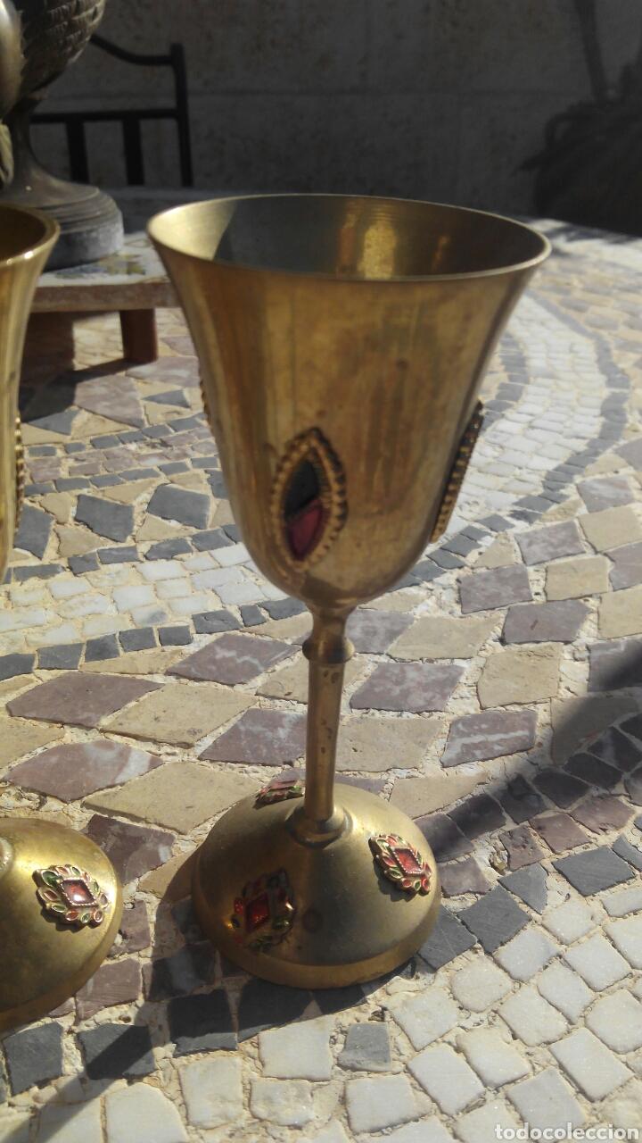 Antigüedades: 4 copas de metal - Foto 2 - 103768292