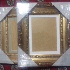 Antigüedades: EXTRAORDINARIOS MARCOS NUEVOS. SIN USO. SIN FALTAS. CON CRISTAL Y PASPARTÚ PARA FOTO O GRABADO.. Lote 103768459