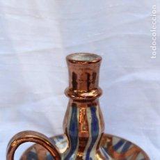 Antigüedades: PALMATORIA DE CERÁMICA CON REFLEJOS DE MANISES IDEAL COMPOSICIONES. Lote 103769059