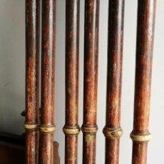 Antigüedades: JUEGO DE 6 VARALES ANTIGUOS EN PLATA FINA. Lote 103770451