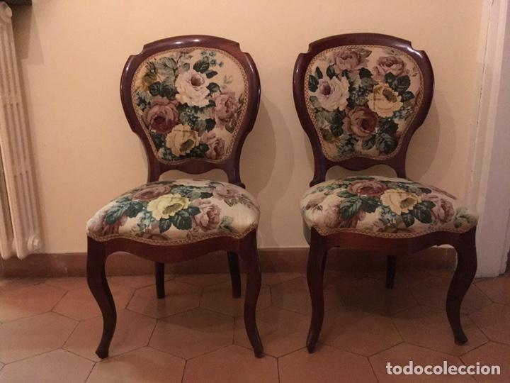 Antigüedades: Silla isabelina tapizada. - Foto 2 - 103788790