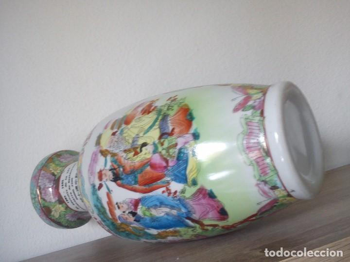 Antigüedades: PRECIOSO JARRON CHINO HECHO Y PINTADO A MANO SELADO 1998,1999 EN RECUERDO DE GUANG.JING - Foto 6 - 103804087