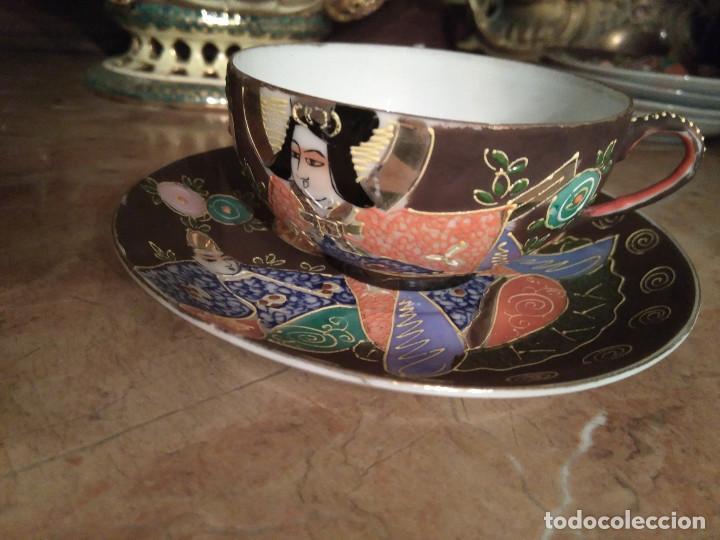 3 TAZITAS DE CAFE Y PLATITOS (Antigüedades - Porcelana y Cerámica - Japón)