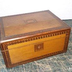 Antigüedades: CAJA ESCRITORIO S. XIX. Lote 115595371