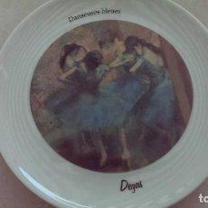 Antigüedades: PLATO DEGAS DANSEUSES BLEUES PINTOR DEGAS PARIS BAILARINAS. Lote 103822767