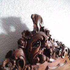 Antigüedades - Cabecero renacimiento español en nogal - 103836243