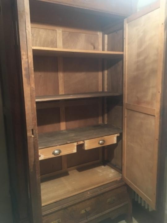 Armario 2 puertas y caj n exterior madera noga comprar - Armarios exterior madera ...