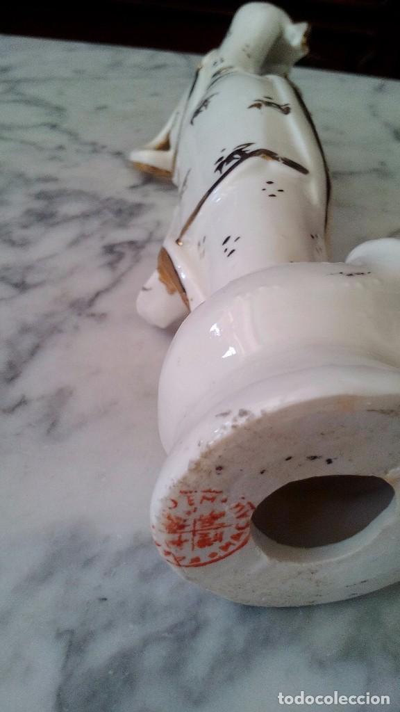 Antigüedades: Antigua figura de porcelana de Makao - Foto 2 - 103841823