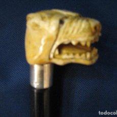 Antigüedades: BASTON CON PERRO . Lote 103843447