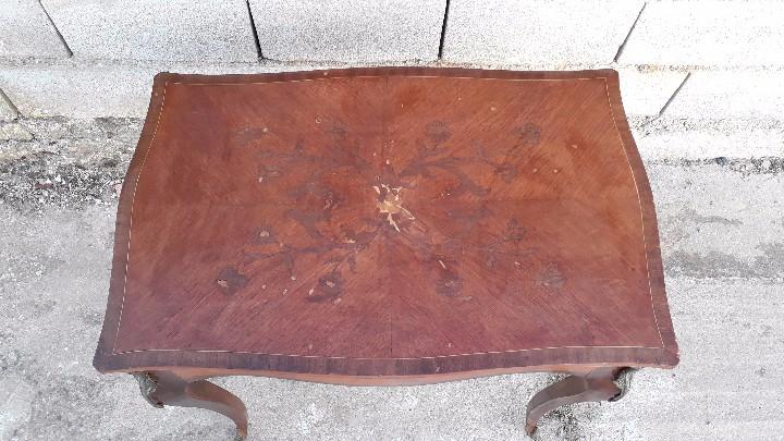Antigüedades: Mesa auxiliar antigua estilo Luis XV, consola antigua francesa, mesita isabelina estilo isabelino - Foto 14 - 175674755