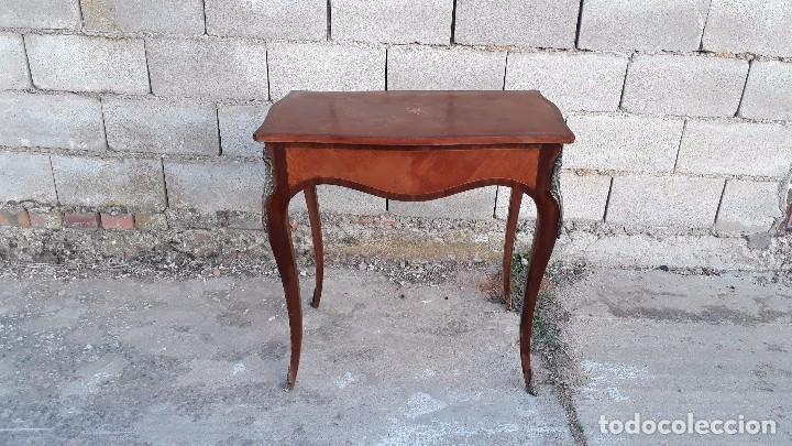 Antigüedades: Mesa auxiliar antigua estilo Luis XV, consola antigua francesa, mesita isabelina estilo isabelino - Foto 2 - 175674755