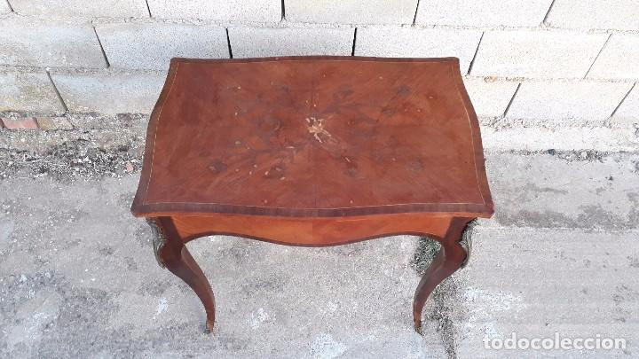 Antigüedades: Mesa auxiliar antigua estilo Luis XV, consola antigua francesa, mesita isabelina estilo isabelino - Foto 3 - 175674755