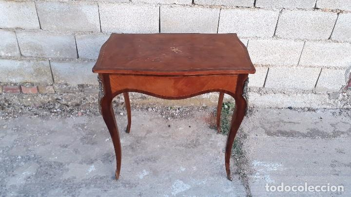 Antigüedades: Mesa auxiliar antigua estilo Luis XV, consola antigua francesa, mesita isabelina estilo isabelino - Foto 4 - 175674755