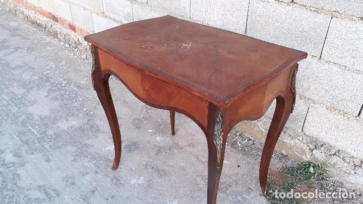 Antigüedades: Mesa auxiliar antigua estilo Luis XV, consola antigua francesa, mesita isabelina estilo isabelino - Foto 5 - 175674755