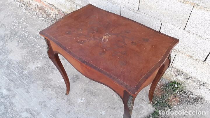 Antigüedades: Mesa auxiliar antigua estilo Luis XV, consola antigua francesa, mesita isabelina estilo isabelino - Foto 6 - 175674755